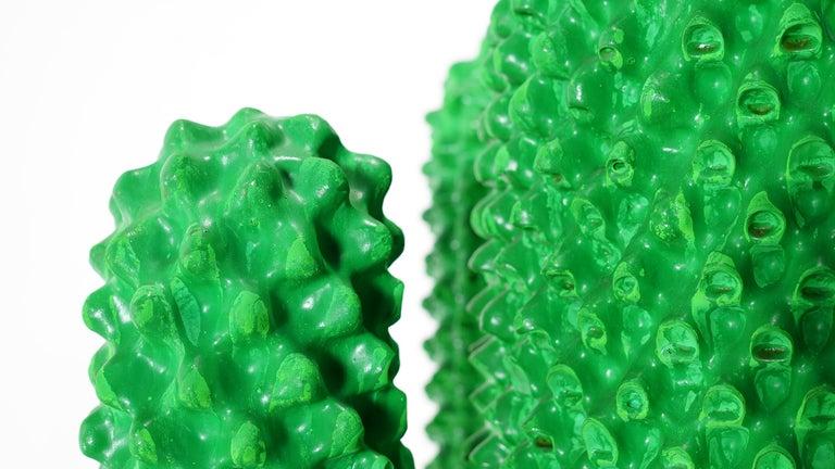 Gufram Kaktus, 1972 von Guido Drocco und Franco Mello 640/2000 Original Grün 15