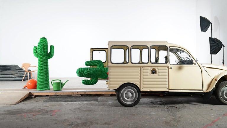 Gufram Kaktus, 1972 von Guido Drocco und Franco Mello 640/2000 Original Grün 4