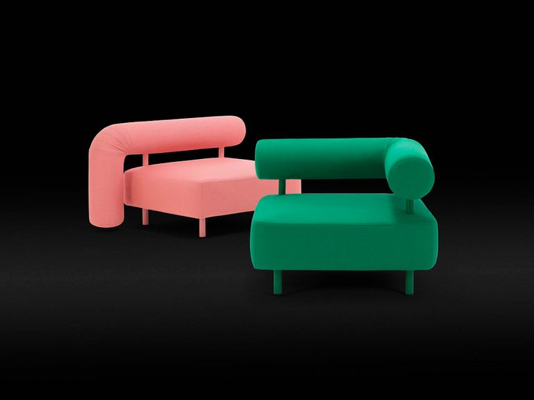 Contemporary DISCO GUFRAM Charly Armchair in Pink by Atelier Biagetti For Sale