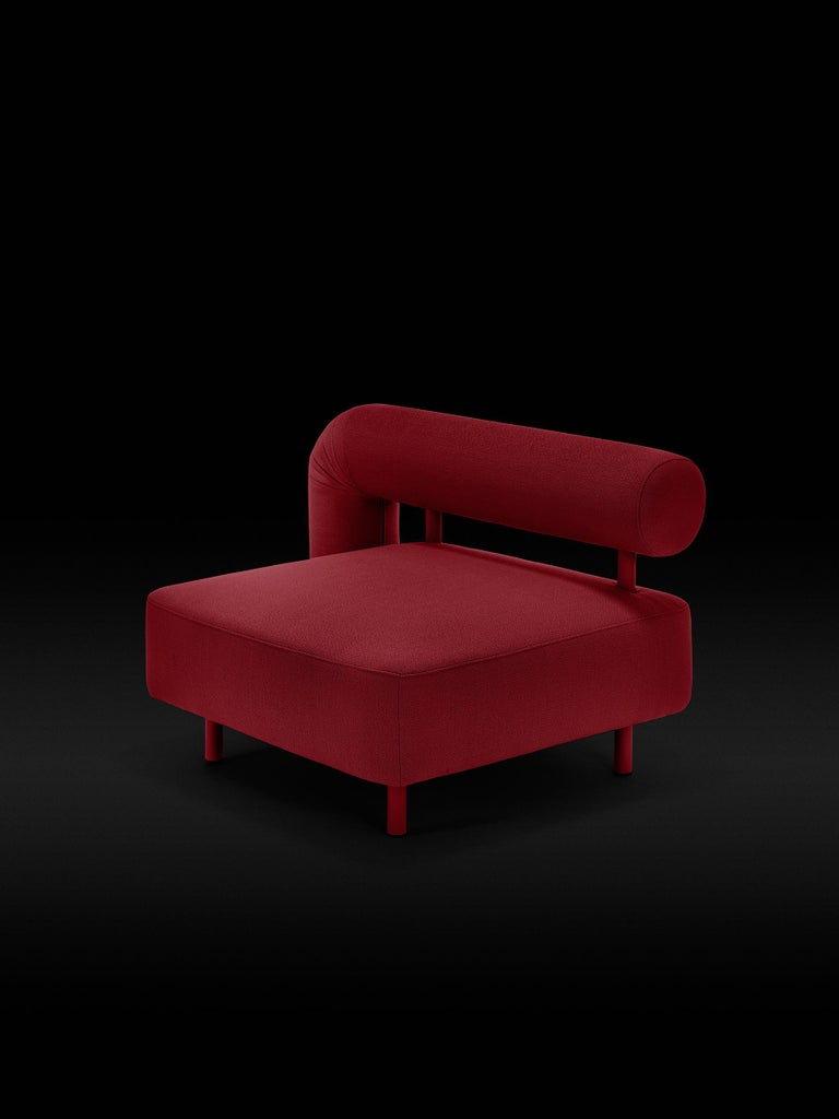 DISCO GUFRAM Charly Armchair in Red by Atelier Biagetti 2