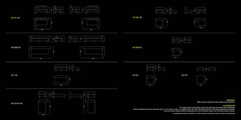 DISCO GUFRAM Charly Side Loveseat in Dark Plaid by Atelier Biagetti 7