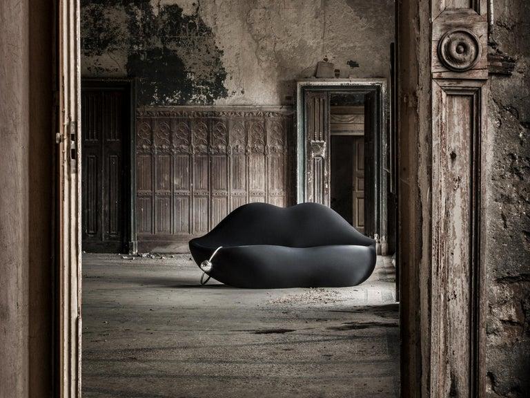 Italian GUFRAM Dark Lady Couch by Studio 65 For Sale