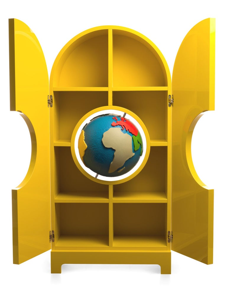 Italian GUFRAM Globe Cabinet by Studio Job For Sale