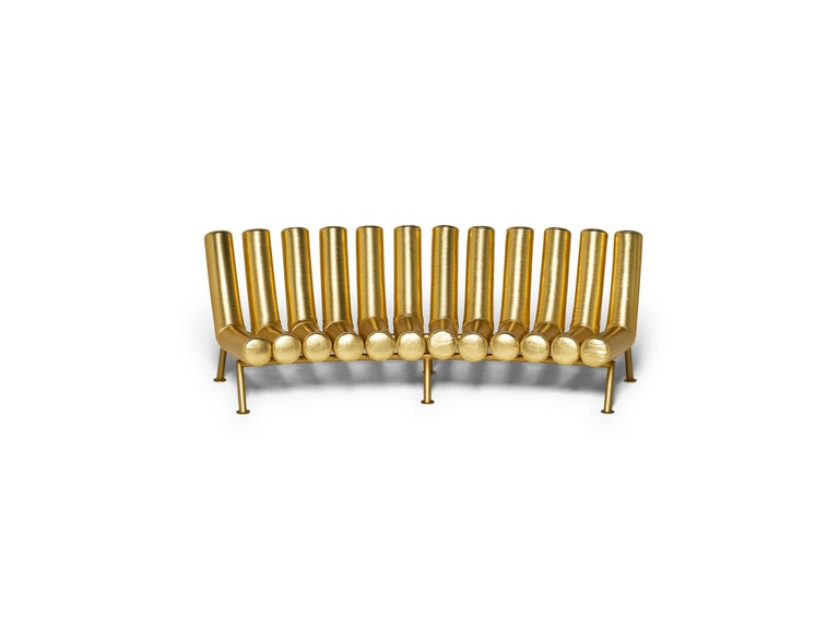 DISCO GUFRAM Jimmy Concave Sofa in Gold by Atelier Biagetti 2