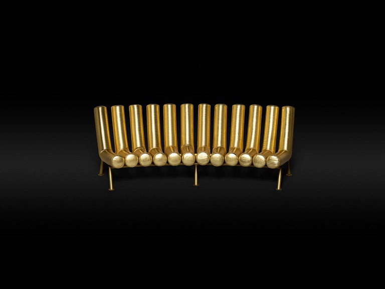 DISCO GUFRAM Jimmy Concave Sofa in Gold by Atelier Biagetti 3