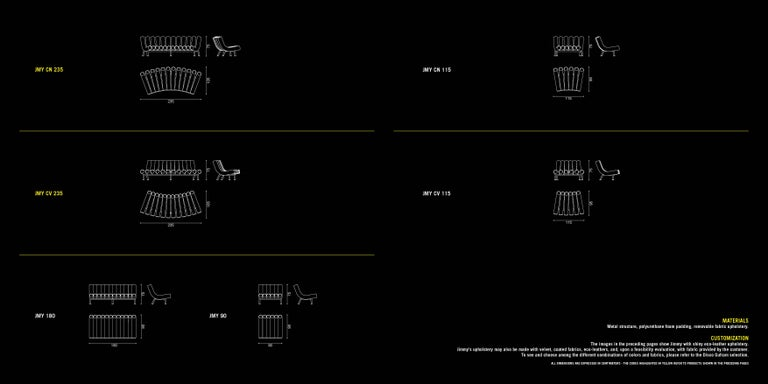 DISCO GUFRAM Jimmy Convex Sofa in Bronze by Atelier Biagetti For Sale 1