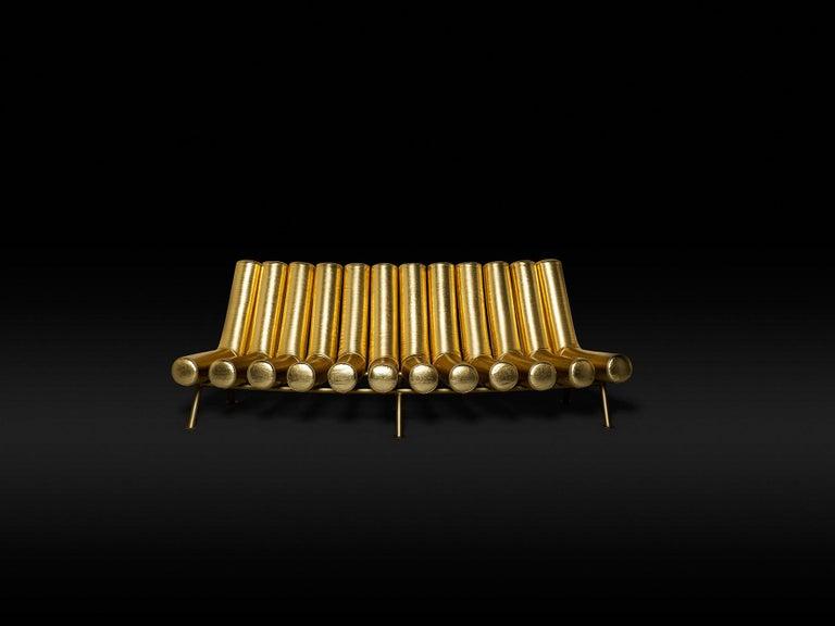 DISCO GUFRAM Jimmy Convex Sofa in Gold by Atelier Biagetti 2