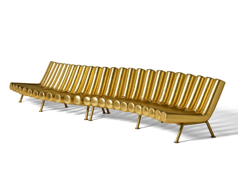DISCO GUFRAM Jimmy Convex Sofa in Gold by Atelier Biagetti 3