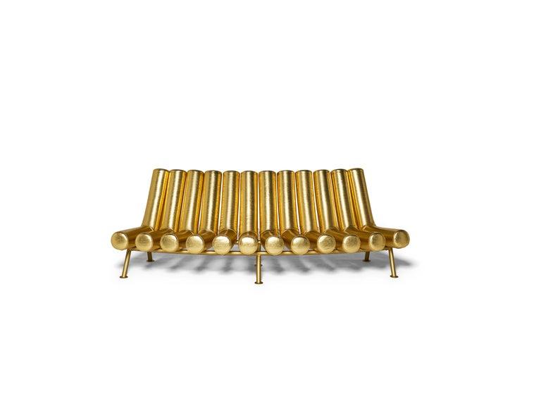 DISCO GUFRAM Jimmy Convex Sofa in Gold by Atelier Biagetti 4