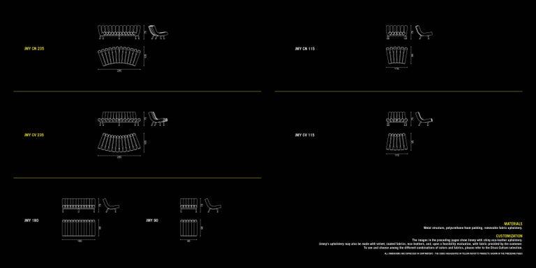DISCO GUFRAM Jimmy Convex Sofa in Gold by Atelier Biagetti 9