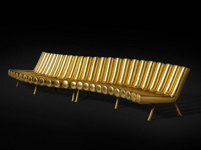 DISCO GUFRAM Jimmy Convex Sofa in Gold by Atelier Biagetti 5