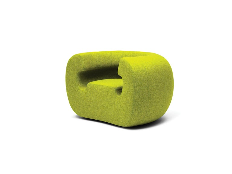 Modern Gufram Roxanne Armchair in Green Melange by Michael Young For Sale