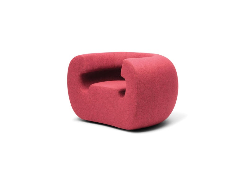 Modern Gufram Roxanne Armchair in Pink Melange by Michael Young For Sale