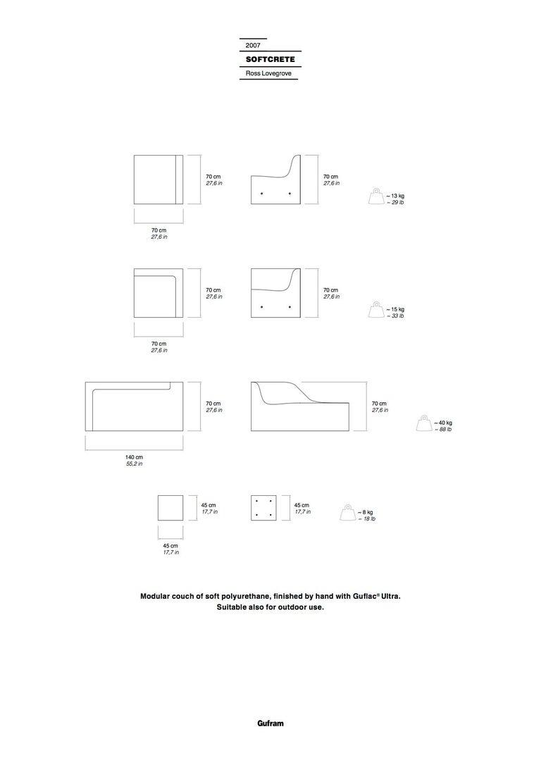 Gufram Softcrete Sofa Set by Ross Lovegrove For Sale 3