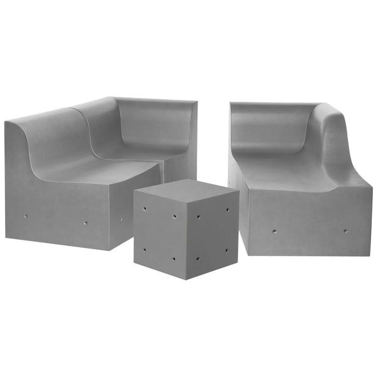 Gufram Softcrete Sofa Set by Ross Lovegrove For Sale