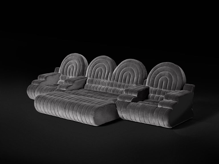 DISCO GUFRAM Stanley Sofa in Dark Grey by Atelier Biagetti 2