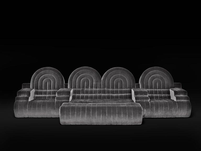 DISCO GUFRAM Stanley Sofa in Dark Grey by Atelier Biagetti 3