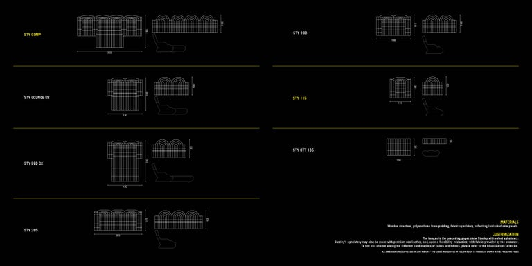 DISCO GUFRAM Stanley Sofa in Dark Grey by Atelier Biagetti 8
