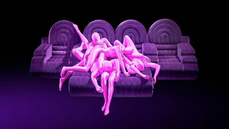DISCO GUFRAM Stanley Sofa in Dark Grey by Atelier Biagetti 5