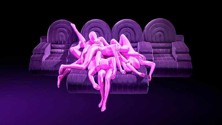 DISCO GUFRAM Stanley Sofa in Violet by Atelier Biagetti In New Condition For Sale In Barolo, IT