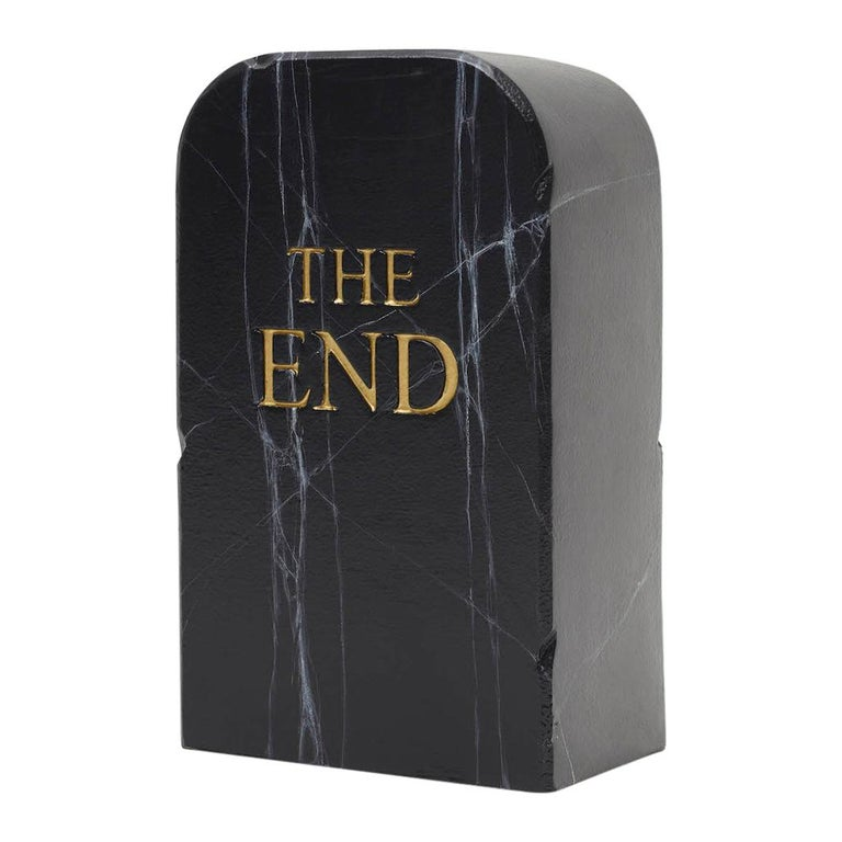 """Gufram """"the End Stool Is Black"""" by Tolietpaper For Sale"""