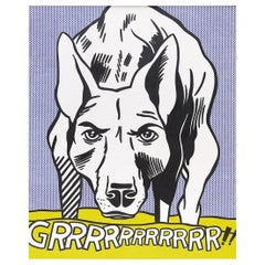Guggenheim exhibition poster after Grrr! by Roy Lichtenstein