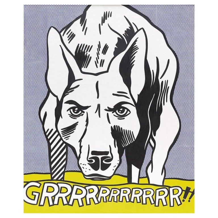 Guggenheim exhibition poster after Grrr! by Roy Lichtenstein