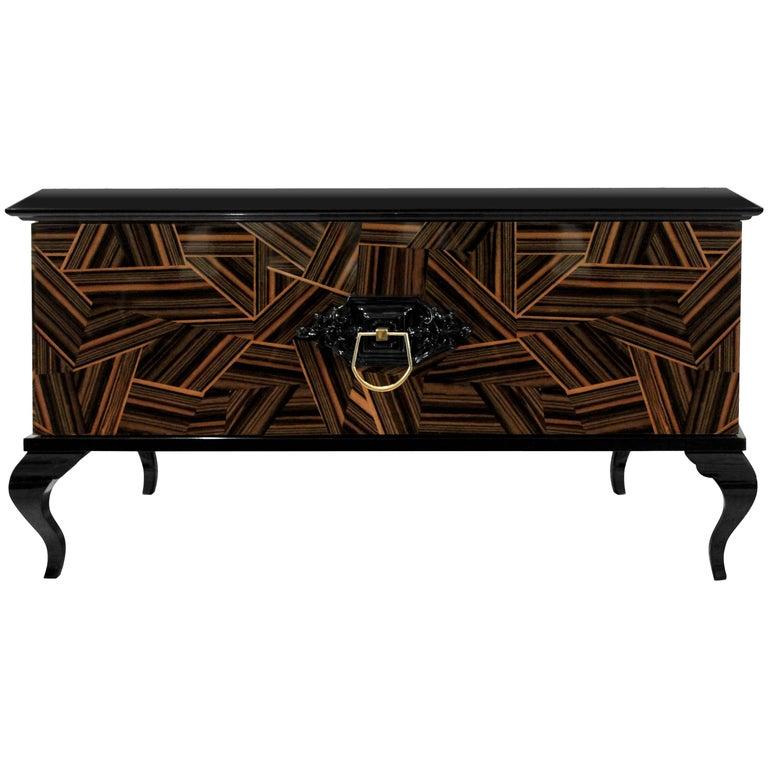 Guggenheim Nightstand with Wood Veneer For Sale