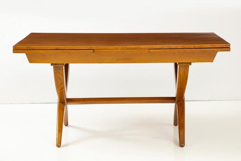 Mid-Century Modern Guglielmo Pecorini Extension Dining Table For Sale