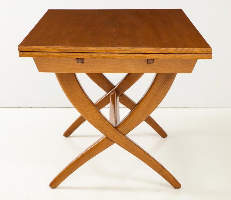 Italian Guglielmo Pecorini Extension Dining Table For Sale
