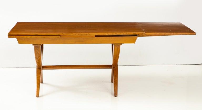 Mid-20th Century Guglielmo Pecorini Extension Dining Table For Sale