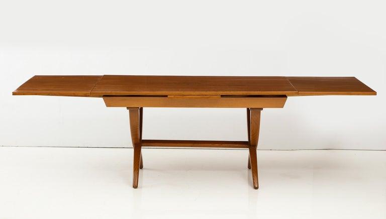 Oak Guglielmo Pecorini Extension Dining Table For Sale