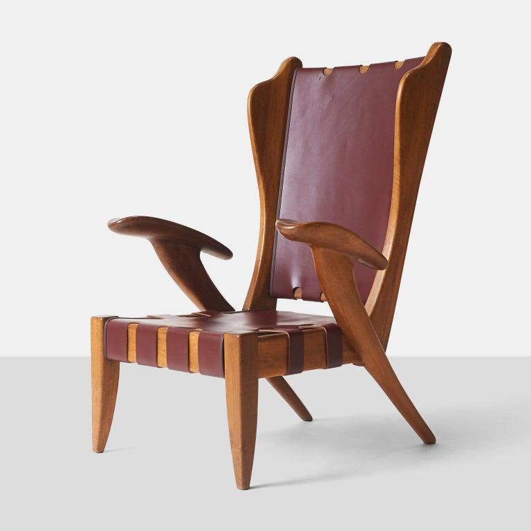 Italian Pair of Highback Armchairs by Guglielmo Pecorini For Sale
