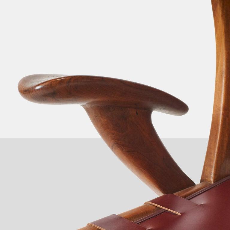 Mid-20th Century Pair of Highback Armchairs by Guglielmo Pecorini For Sale