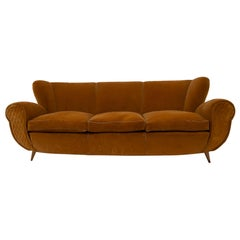 Guglielmo Ulrich Art Deco Italian Sofa, 1940s