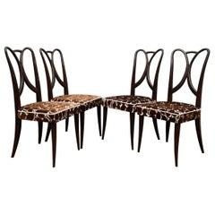 Guglielmo Ulrich Attributed Italian Art Deco Chairs, 1940