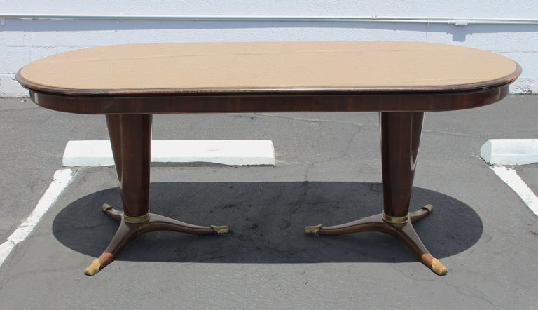 Art Deco Dining Room Set in the Style of Paolo Buffa, possibly made by Dassi, circa 1954 For Sale