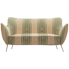 Guglielmo Veronesi Curved Sofa in Baroque Upholstery