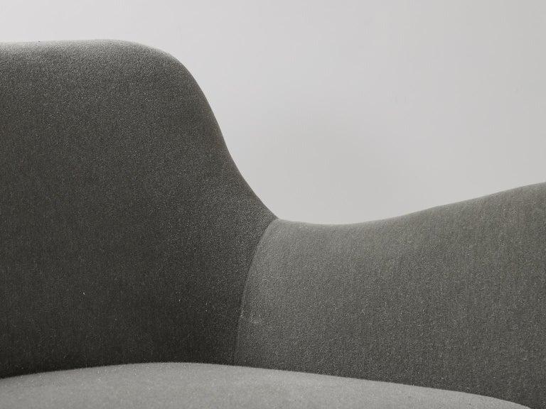 Guglielmo Veronesi for ISA Bergamo, Italian Mid Century Sofa in Mohair Fabric For Sale 6