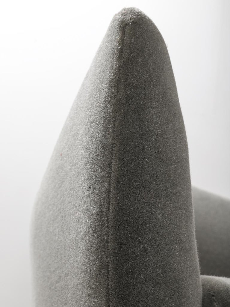 Guglielmo Veronesi for ISA Bergamo, Italian Mid Century Sofa in Mohair Fabric For Sale 9