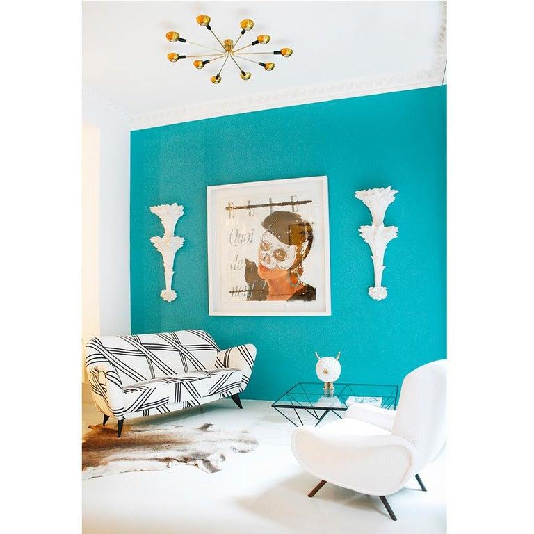 Guglielmo Veronesi for ISA Bergamo Mid-Century Modern Italian Perla Sofa For Sale 8