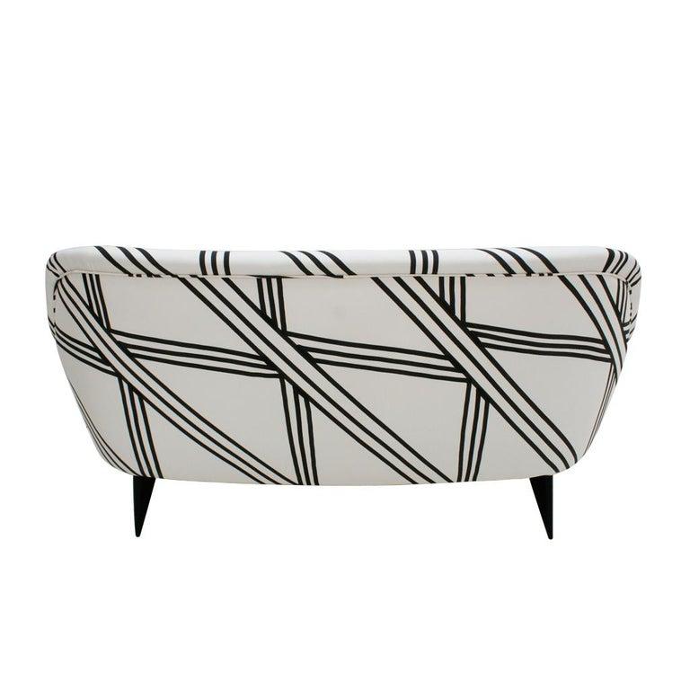 Guglielmo Veronesi for ISA Bergamo Mid-Century Modern Italian Perla Sofa For Sale 1