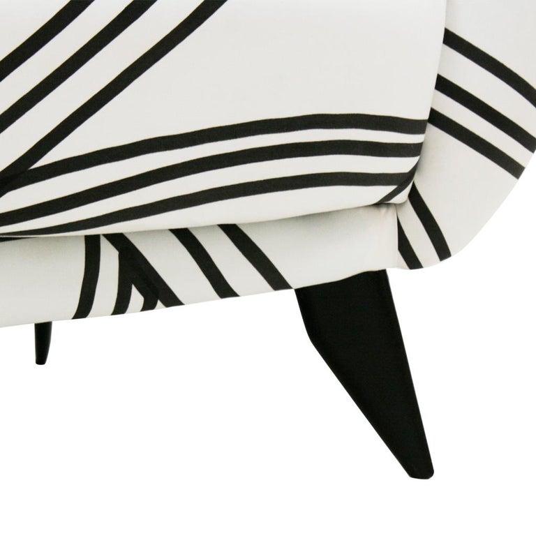 Guglielmo Veronesi for ISA Bergamo Mid-Century Modern Italian Perla Sofa For Sale 2