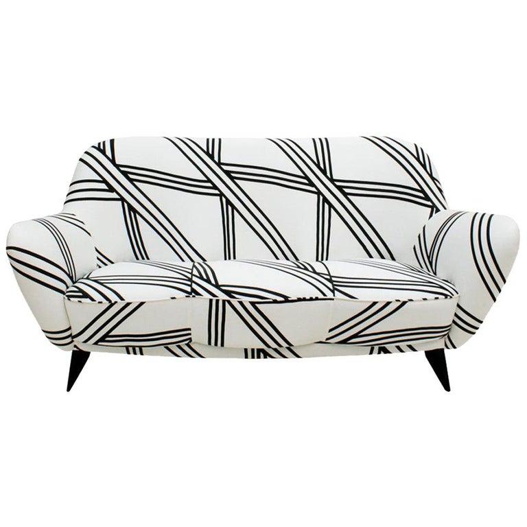 Guglielmo Veronesi for ISA Bergamo Mid-Century Modern Italian Perla Sofa For Sale