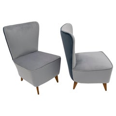 Guglielmo Veronesi Mid-Century Modern Italian Small Armchairs for I.S.A., Pair