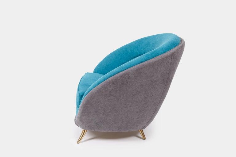 Italian Guglielmo Veronesi Pair of Armchairs For Sale
