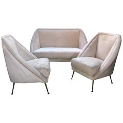 Guglielmo Veronesi Settee with Two Lounge Chairs