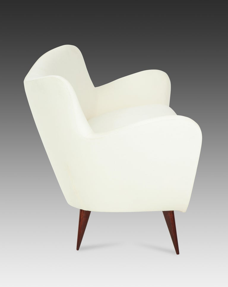 Upholstery Guglielmo Veronisi for I.S.A. 'Perla' Sofa For Sale