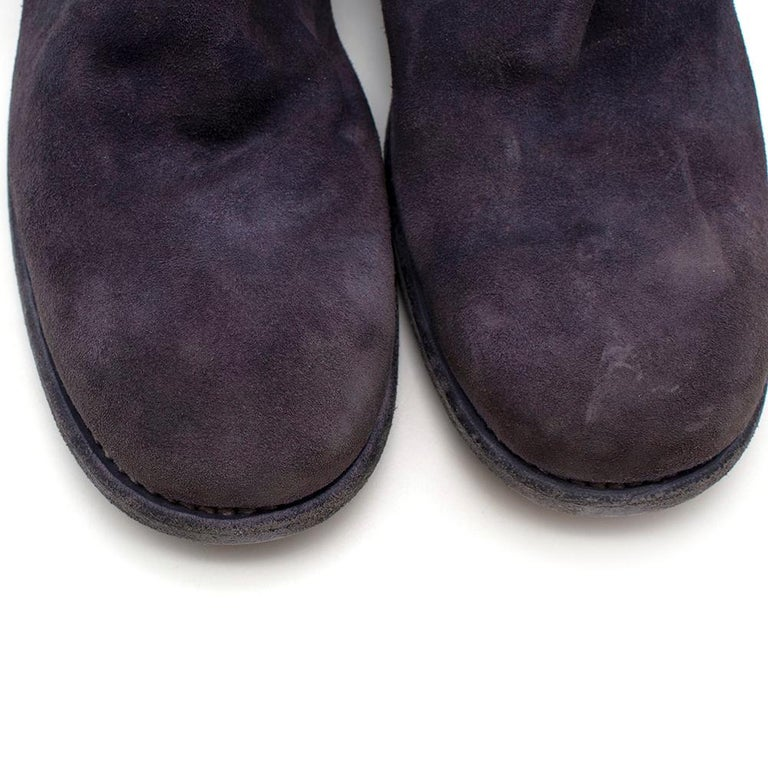 Women's or Men's Guidi Suede Distressed Zipped Boots 43 For Sale