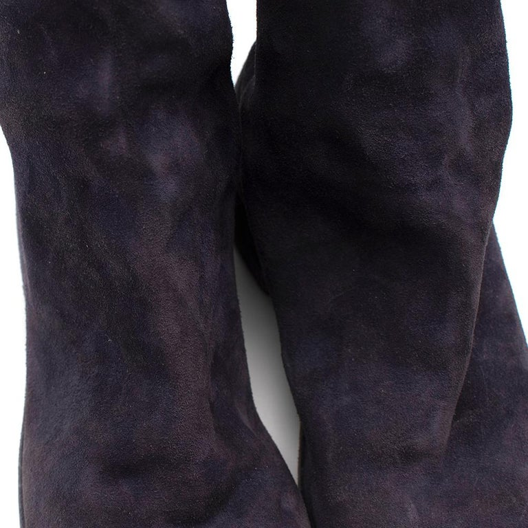 Guidi Suede Distressed Zipped Boots 43 For Sale 1